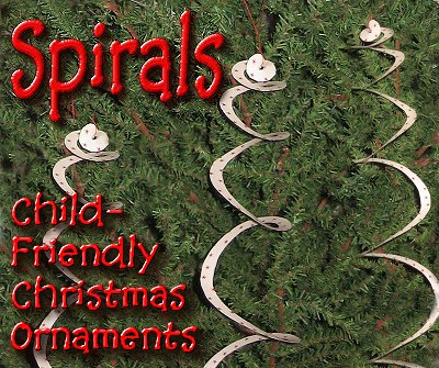 Spiral Ornaments, a Simple Paper Craft