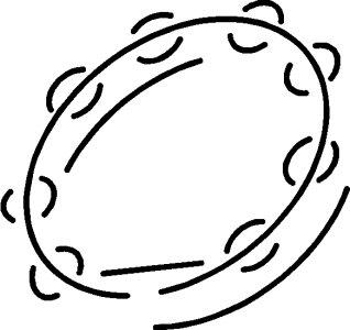 Tambourine instrument drawing