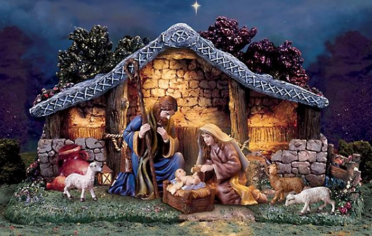 Thomas Kinkade Christmas Nativity Collection Star Of Hope